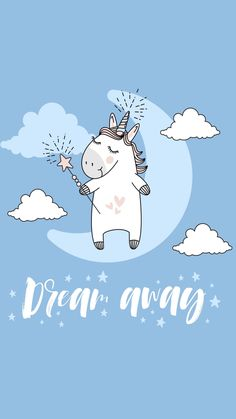 Unicorn dream away wallpaper on AppKiwi! Real Unicorn, Unicorn Art, Cute Unicorn, Wallpapers Tumblr, Cute Wallpapers, Cellphone Wallpaper, Iphone Wallpaper, Unicorn Wallpaper Cute, Unicorn Illustration