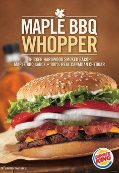 BURGER KING(R) Canada Expands the WHOPPER(R) Love With the New Maple BBQ WHOPPER(R) Sandwich