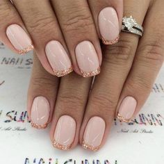 Pink And Gold Nail Designs Idea Pink And Gold Nail Designs. Here is Pink And Gold Nail Designs Idea for you. Pink And Gold Nail Designs rose gold nail designs. Pink And Gold Nail Designs Shellac Nail Designs, Gold Nail Designs, French Manicure Designs, French Tip Nails, Manicure And Pedicure, Gel Nails, Manicure Ideas, Nails Design, French Manicures
