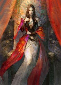 Queen 2D digital fantasy illustration created by concept artist tahra (Kyoung Hwan Kim) of Seoul, South Korea!!!