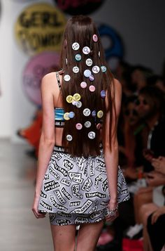 Want to funk your hair up stick some badges in it x