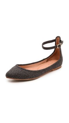 temple ankle strap flats / joie