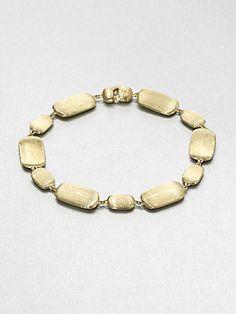 Marco Bicego 18K Gold Engraved Nugget Bracelet