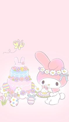 15 Ideas wallpaper iphone anime kawaii my melody Sanrio Wallpaper, Hello Kitty Iphone Wallpaper, My Melody Wallpaper, Wallpaper Iphone Neon, Kawaii Wallpaper, Trendy Wallpaper, Mermaid Wallpapers, Cute Wallpapers, Ostern Wallpaper