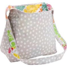 NEW Thirty One Inside Out Bag Lotsa Dots  never used. Reversible sling bag. Lotsa dots reverses to island damask Thirty One Bags