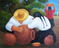 Art of Peru Mexican Paintings, African Art Paintings, Mexican Artists, Mexican Folk Art, Diego Rivera Art, Colombian Art, Hispanic Art, Peruvian Art, Peacock Painting