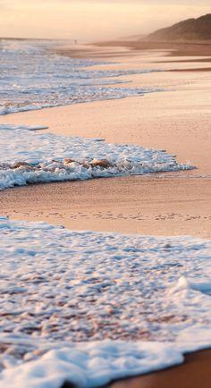 the shore....