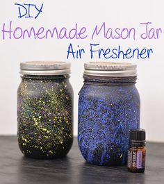 Check out this easy to make Homemade Mason Jar Air Freshener, using Essential Oils. This is perfect for anyone looking to save some money and make their home smell amazing!