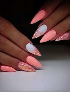 Pretty Ideas Of Colors for Nail Designs for Women… – Adela Davis Pretty Ideas Of Colors for Nail Designs for Women… 30 Great Stiletto Nail Art Design Ideas 1 Latest Nail Designs, Nail Art Designs, Nail Designs With Glitter, Acrylic Nail Designs Classy, Orange Nail Designs, Nails Design, Color For Nails, Nail Colors, Winter Nails