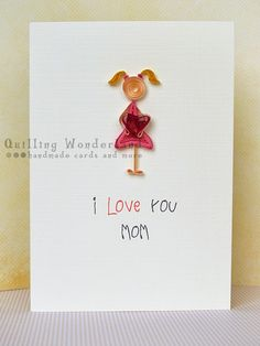 Mother's Day Card quilling card, quilling wonderland, made in kilkeeny, bespoken gifts, handmade in ireland