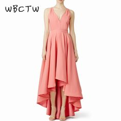 c97291bbb7679 US $42.99 |Aliexpress.com : Buy WBCTW 7XL Plus Size Ladies Dress Deep V Neck  Sleeveless Pink Dress 2018 Summer Maxi Asymmetrical High Waist Woman Party  ...