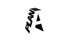 """A-Plan Logo with """"A"""" #logo #tipografia excelente utilización de los espacios negativos y positivos"""