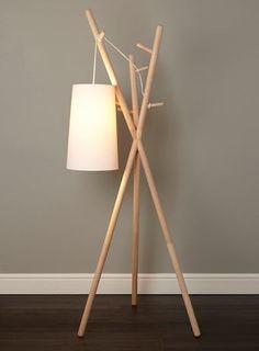 Logan coat stand floor lamp - floor lamps - Home, Lighting & Furniture