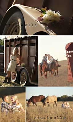engagement pictures with horses