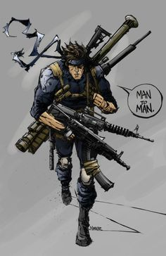 Metal Gear Solid - Solid Snake by Aaron Miner Video Game Art, Video Games, Character Concept, Character Design, Concept Art, Snake Metal Gear, Metal Gear Solid Series, Kojima Productions, Aging Metal