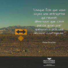 Entreprendre et réussir une question de décisions courageuses  . . . #inspiration #quotes #reussite #succes #entrepreneurquotes #entreprises #instamood #toulouse #balma #agenceweb #courage