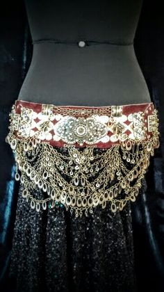 Belt in suede and metals $110.00 (including shipping)