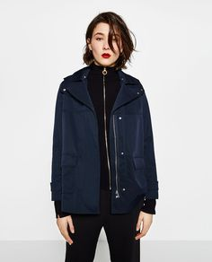Image 2 of TECHNICAL FABRIC JACKET from Zara
