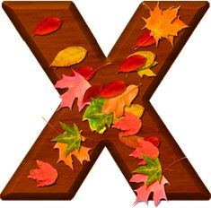Presentation Alphabets: Cherry Wood Leaves Letter X Dahlia Flower, Flowers, Frozen 1, Fall Fest, Printable Letters, Happy Fall Y'all, Alphabet And Numbers, Fall Season, Autumn Leaves