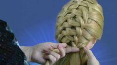Как делать прическу из волос.How delati prychesku of hair.