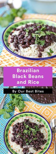 7. Brazilian Black Beans and Rice #healthy #Brazilian #recipes http://greatist.com/eat/brazilian-recipes-that-are-surefire-winners