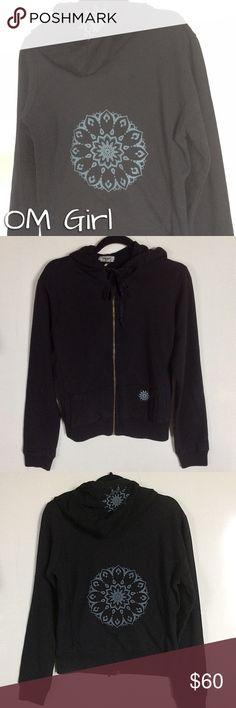 Selling this Black Zip Yoga Hoodie NWT on Poshmark! My username is: nikongirlrocks. #shopmycloset #poshmark #fashion #shopping #style #forsale #Om Girl #Jackets & Blazers
