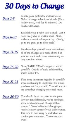 How to turn your life around in 30 days - Tapping would be a great habit or ritual to start!