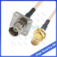 """TNC female jack 4four hole panel to RP-SMA female connector straight RG316 RF Coaxial Pigtail Jumper RF Low Loss cable 8"""" 20cm #Affiliate"""