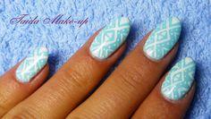 Aztec Nails Tutorial. Wzorki azteckie na pastelowym tle SEMILAC! Manicur...