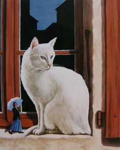 White cat paintings. Francois Knopf - White Cat