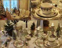 Aiken House & Gardens ~ Friendly Village tablescape