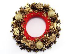 Wianek świąteczny - Zielonepalce - Dekoracje bożonarodzeniowe
