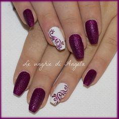 Sugar nails with arabesques