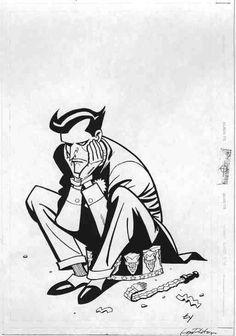 Ty Templeton Batman adventures Joker cover Comic Art