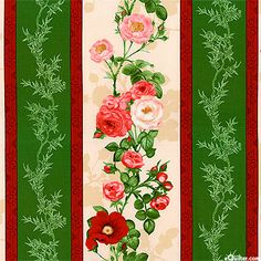 Bouquet Moderne - Rosy Outlook  Stripe - Holly Green