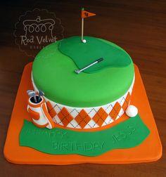 golf cake. #redvelvet