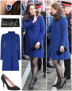 """The Duchess was back in a Goat coat for today's visit to Action on Addiction. The English label…"""""""