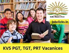 Kendriya Vidyalaya Sangathan hiring for 6205 teaching posts. Appply Online KVS Recruitment 2016-17 Application form at kvsangathan.nic.in.
