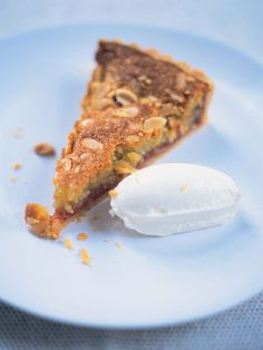 Bakewell tart   Jamie Oliver baking & dessert recipes Desserts To Make, No Bake Desserts, Delicious Desserts, Dessert Recipes, Pear And Almond Cake, Almond Pastry, Pear Tart, Bakewell Tart, Salted Caramel Fudge