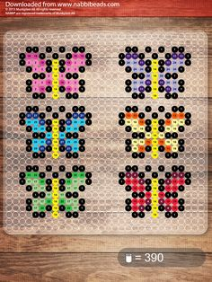Small butterflies -- perler beads