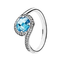 PANDORA 'Radiant Embellish' Cubic Zirconia Ring ($90) ❤ liked on Polyvore featuring jewelry, rings, pandora jewelry, pandora jewellery, cz jewelry, zirconia jewelry and pandora rings