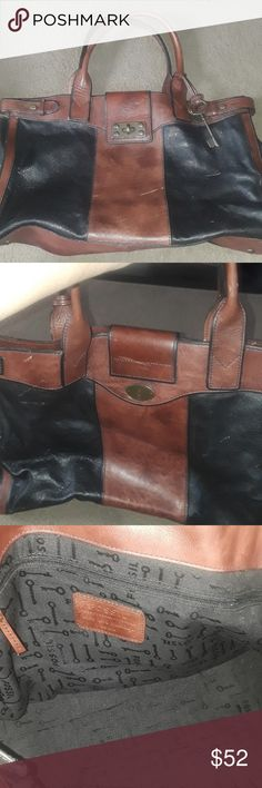 LONG LIVE VINTAGE FOSSIL BAG In excellent condition other than the scratches  you see on last pic. Fossil Bags
