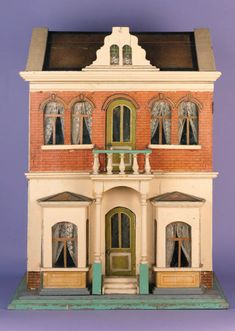 This Christian Hacker dolls house was sold at Christie's, London in 1999 for Fairy Houses, Play Houses, Doll Houses, Antique Dollhouse, Dollhouse Miniatures, Dollhouse Ideas, Tin House, House Art, Miniature Houses