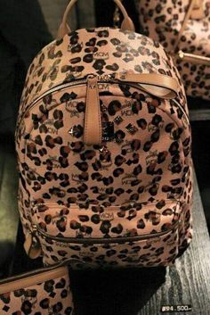 #AnimalPrint , #Leopard , mochila e estojo super fashion