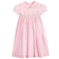 Malvi & Co Isi Baby - Baby Girls Pink Hand Smocked Dress   Childrensalon