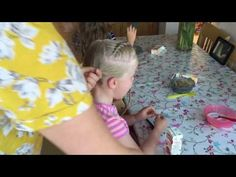 Folded Dutch braid into a messy bun tutorial by Two Little Girls Hairstyles - YouTube