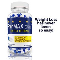 PhenMax375 Diet Pills are an Ultra-Strong Fat Burner, Energy Enhancer, and Appetite Suppressant. One pill a day will Burn Fat, Reduce Appetite and will Elevate Mood. PhenMax 375 is not a prescription drug medication; it's a natural weight loss supplement that is safe and effective. Statistics prove PhenMax works for 8 out of 10 people.