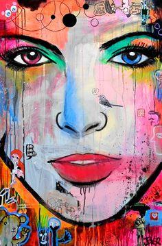 "Saatchi Art Artist: Loui Jover; Acrylic 2014 Painting ""blah blah blah!!! (canvas)"""