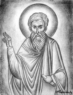 Sketches, Theodore Papadopoulos,Byzantine Icons Workshop,Orthodox byzantine iconography, byzantine icons, iconographers, hand made icons, hagiographers, icon painter, religious icons