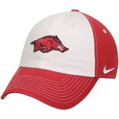 abd428e675c12 Women s Nike White Cardinal Arkansas Razorbacks Logo Adjustable Hat